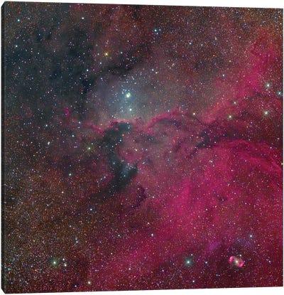 The Fighting Dragons Nebula, Ngc 6188, And The Emission Nebula Ngc 6164. Canvas Art Print