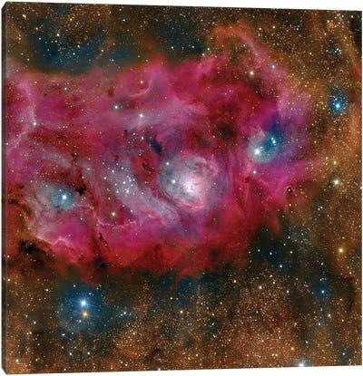 The Lagoon Nebula. Canvas Art Print