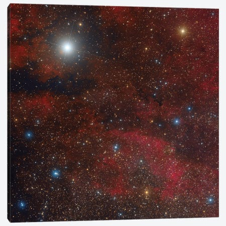 The Sadr Region In The Constellation Cygnus. Canvas Print #TRK3449} by Roberto Colombari Canvas Art Print