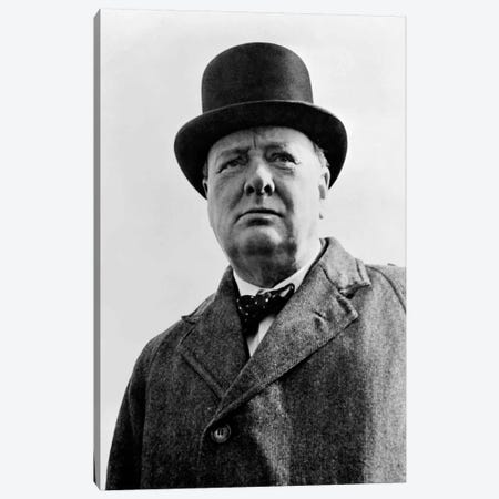 Portrait Of Sir Winston Churchill Canvas Print #TRK344} by John Parrot Canvas Print