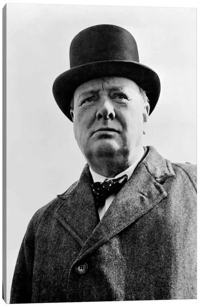 Portrait Of Sir Winston Churchill Canvas Art Print