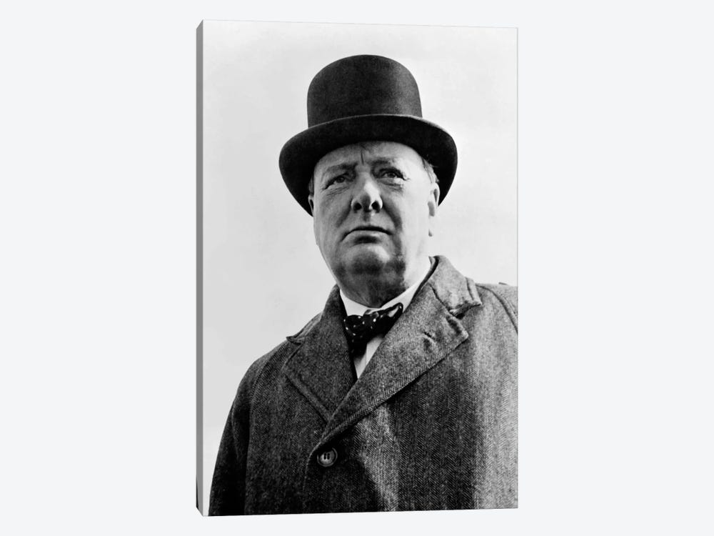 Portrait Of Sir Winston Churchill by John Parrot 1-piece Canvas Print