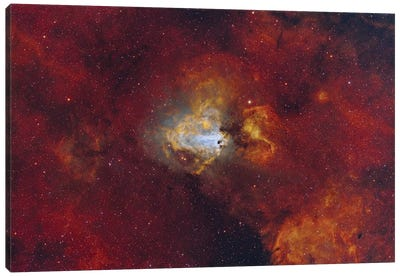 The Swan Nebula Starforming Region In The Constellation Sagittarius. Canvas Art Print