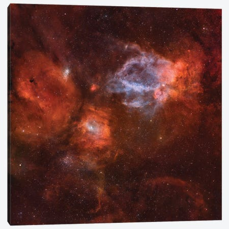 Ngc 7635, The Bubble Nebula. Canvas Print #TRK3455} by Rolf Geissinger Canvas Art Print