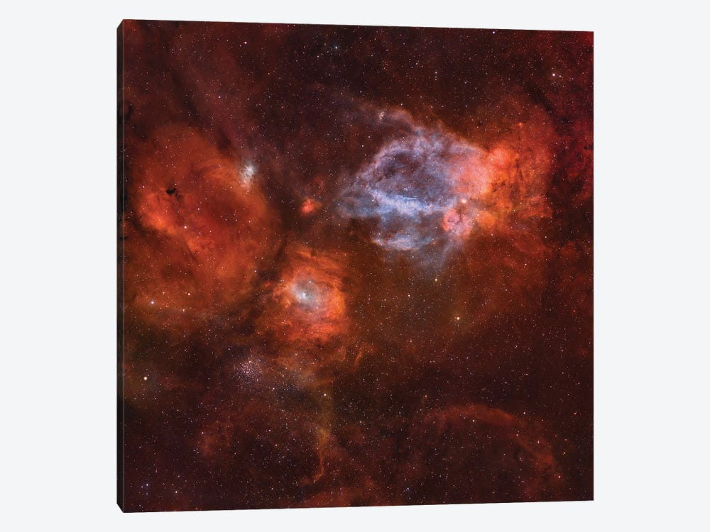Ngc 7635, The Bubble Nebula. by Rolf Geissinger 1-piece Canvas Wall Art