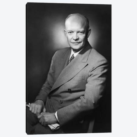 Presidential Portrait Of Dwight D. Eisenhower Canvas Print #TRK346} by John Parrot Canvas Art Print