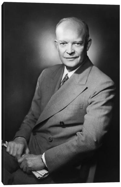 Presidential Portrait Of Dwight D. Eisenhower Canvas Art Print
