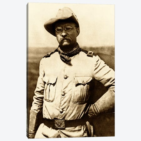 Vintage American History Photo Of Colonel Theodore Roosevelt Canvas Print #TRK348} by John Parrot Canvas Art