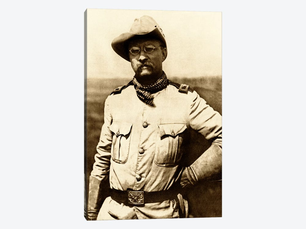 Vintage American History Photo Of Colonel Theodore Roosevelt by John Parrot 1-piece Canvas Print