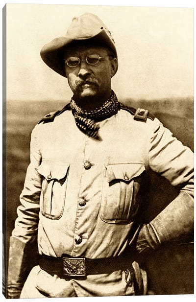 Vintage American History Photo Of Colonel Theodore Roosevelt Canvas Art Print