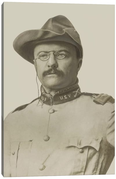 Vintage American History Print Of Colonel Theodore Roosevelt Canvas Art Print