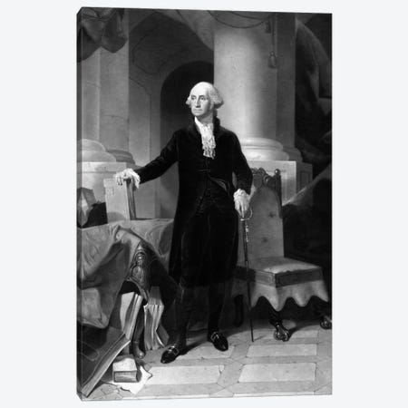 Vintage American History Print Of President George Washington Canvas Print #TRK351} by John Parrot Canvas Print