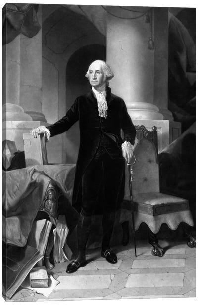 Vintage American History Print Of President George Washington Canvas Art Print