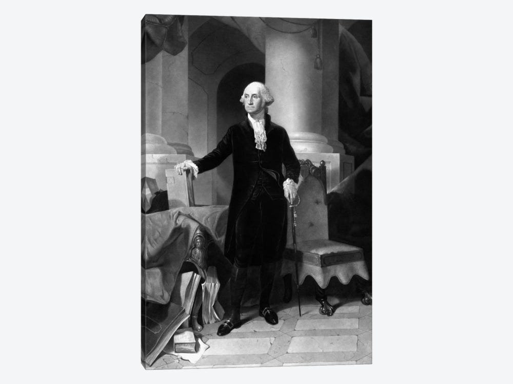 Vintage American History Print Of President George Washington by John Parrot 1-piece Art Print