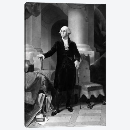 Vintage American History Print Of President George Washington Canvas Print #TRK351} by John Parrot Canvas Print