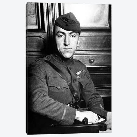 Vintage WWI Photo Of Eddie Rickenbacker Canvas Print #TRK357} by John Parrot Canvas Wall Art