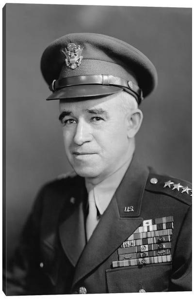 Vintage WWII Photo Of Four Star General Omar Bradley Canvas Art Print