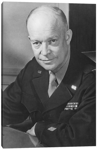 Vintage WWII Photo Of General Dwight D. Eisenhower Canvas Art Print