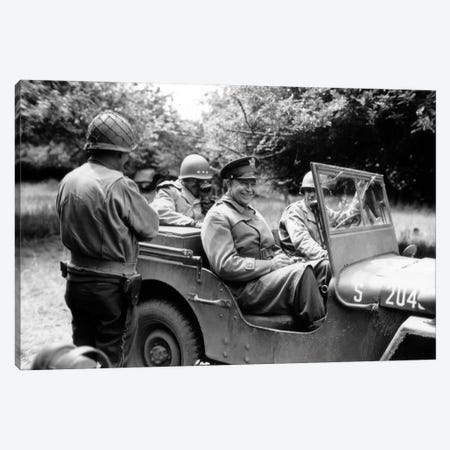 Vintage WWII Photo Of General Dwight D. Eisenhower Sitting In A Jeep Canvas Print #TRK360} by John Parrot Canvas Art