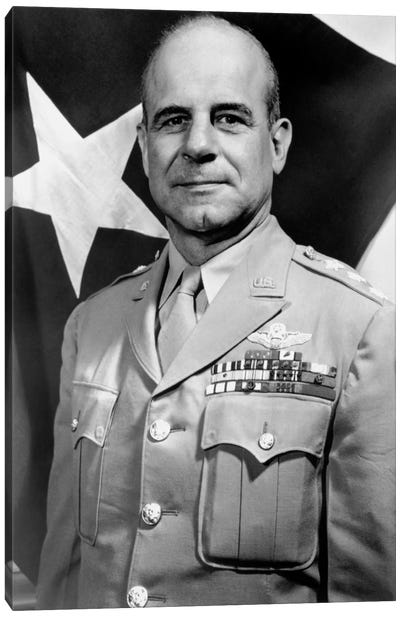 Vintage WWII Photo Of General James Doolittle Canvas Art Print