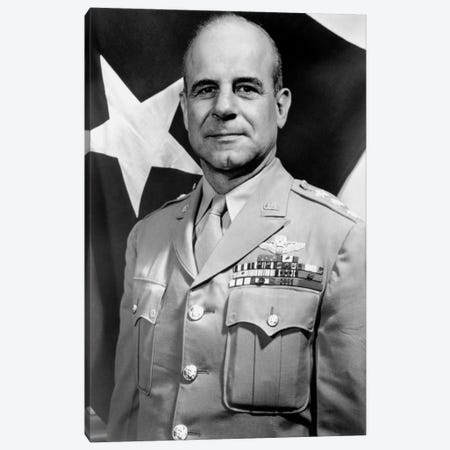 Vintage WWII Photo Of General James Doolittle Canvas Print #TRK362} by John Parrot Canvas Artwork