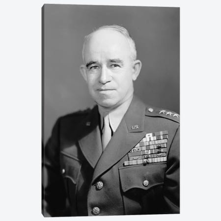 WWII Photo Of General Omar Nelson Bradley Canvas Print #TRK366} by John Parrot Art Print