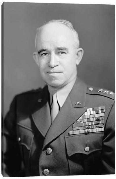 WWII Photo Of General Omar Nelson Bradley Canvas Art Print