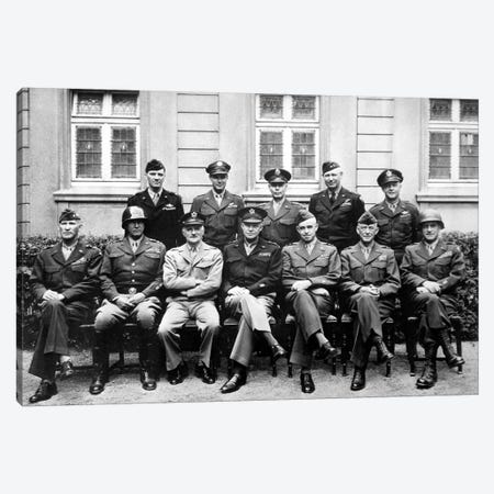 WWII Photo Of The Senior American Military Commanders Of The European Theater Canvas Print #TRK371} by John Parrot Art Print