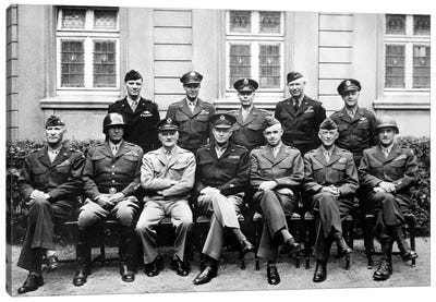 WWII Photo Of The Senior American Military Commanders Of The European Theater Canvas Art Print