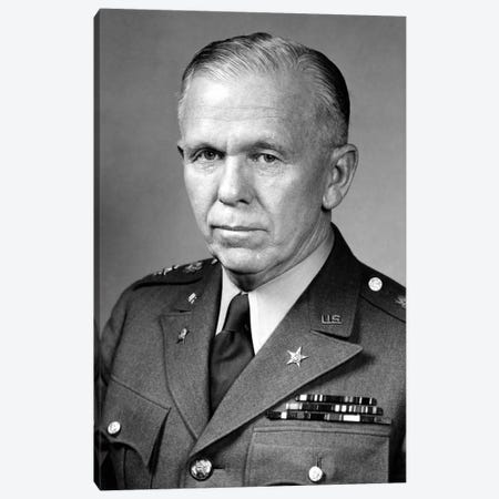 WWII Portrait Of General George Marshall Canvas Print #TRK372} by John Parrot Canvas Print
