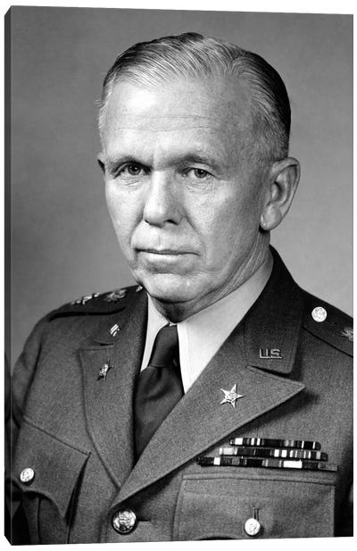 WWII Portrait Of General George Marshall Canvas Art Print