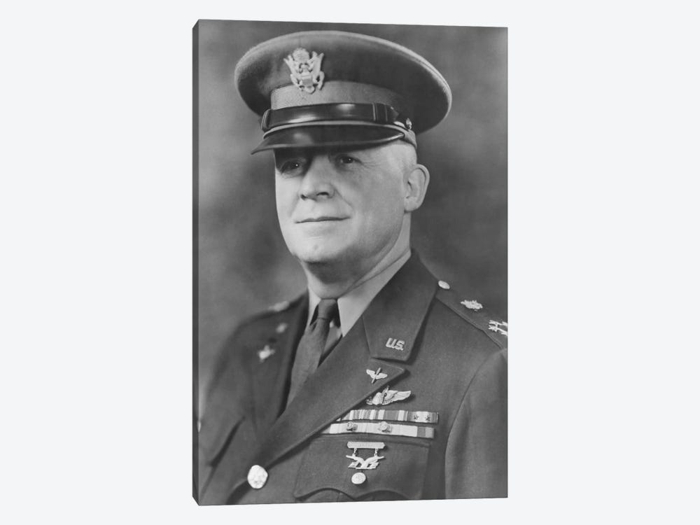 WWII Portrait Of General Henry H. Arnold by John Parrot 1-piece Canvas Art Print