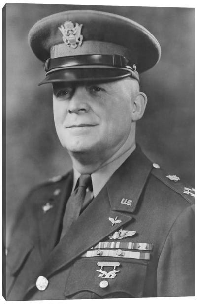 WWII Portrait Of General Henry H. Arnold Canvas Art Print