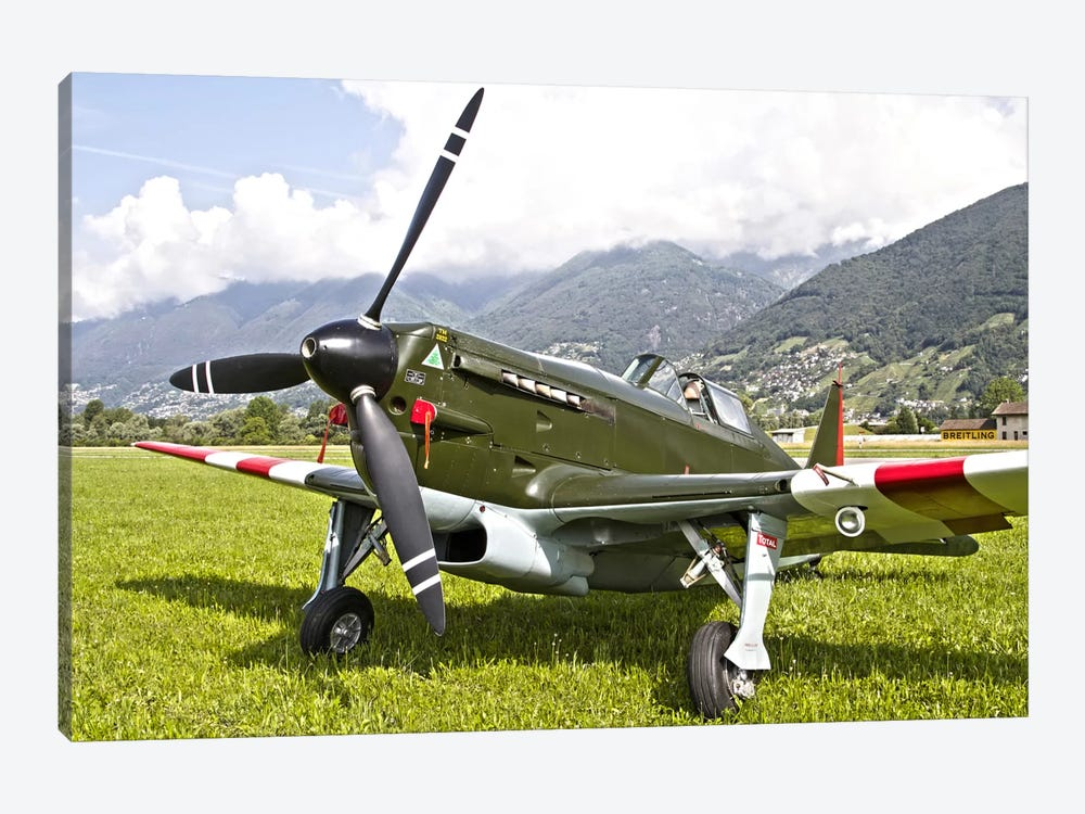 A Morane-Saulnier D-3801 Of The Swiss Air Force 1-piece Canvas Wall Art