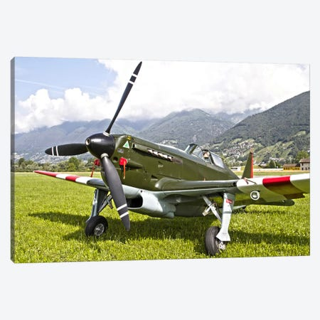 A Morane-Saulnier D-3801 Of The Swiss Air Force Canvas Print #TRK378} by Luca Nicolotti Canvas Art Print