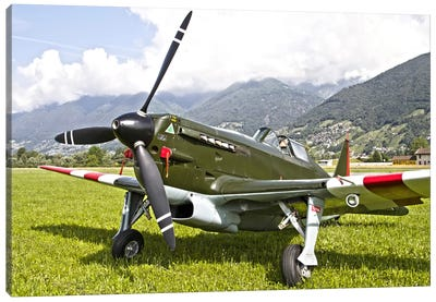 A Morane-Saulnier D-3801 Of The Swiss Air Force Canvas Art Print