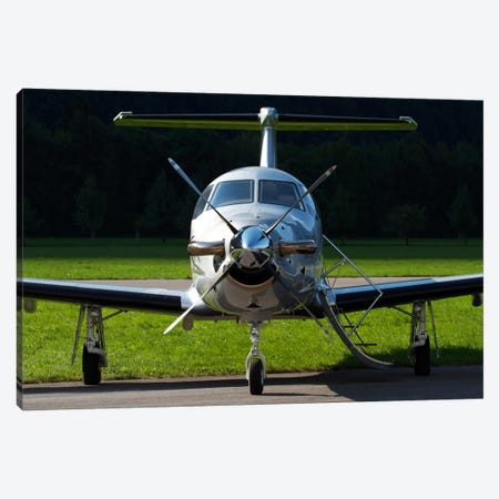 A Pilatus PC-12 Private Jet Canvas Print #TRK379} by Luca Nicolotti Art Print