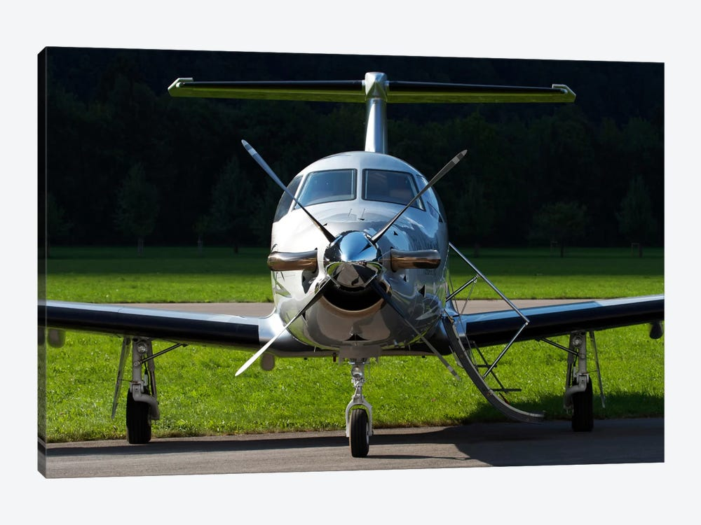 A Pilatus PC-12 Private Jet by Luca Nicolotti 1-piece Canvas Print