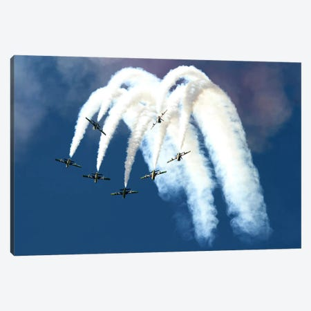 The United Arab Emirates Al Fursan Aerobatic Team Canvas Print #TRK382} by Luca Nicolotti Canvas Wall Art