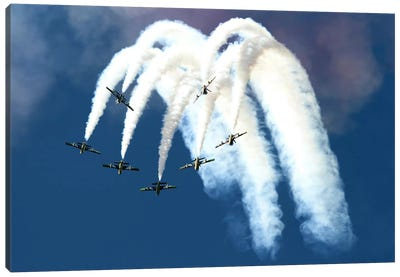 The United Arab Emirates Al Fursan Aerobatic Team Canvas Art Print