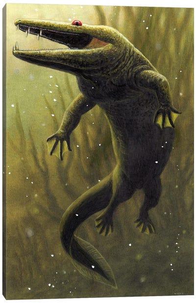 Mastodonsaurus, An Extinct Genus Of Temnospondyli Amphibian From The Middle Triassic Canvas Art Print