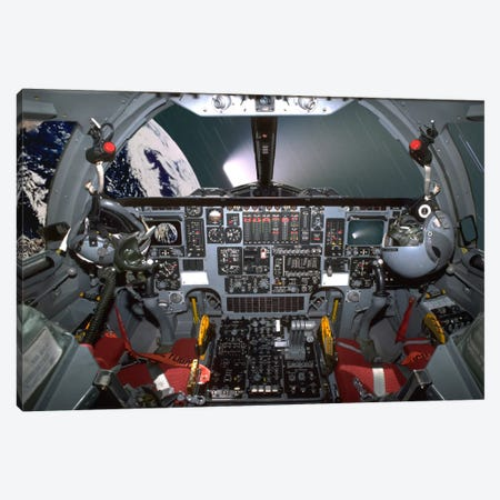 B1-B Lancer Cockpit Canvas Print #TRK385} by Phil Wallick Canvas Art Print