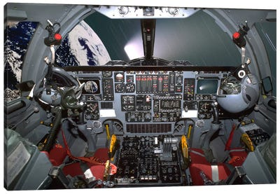 B1-B Lancer Cockpit Canvas Art Print
