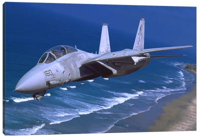 F-14 Tomcat Flying Over San Diego, California Canvas Art Print