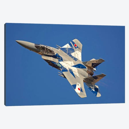 F-15DJ Eagle Of The Japan Air Self Defense Force's Hiko Kyodatai Aggressor Squadron I Canvas Print #TRK390} by Phil Wallick Canvas Art Print