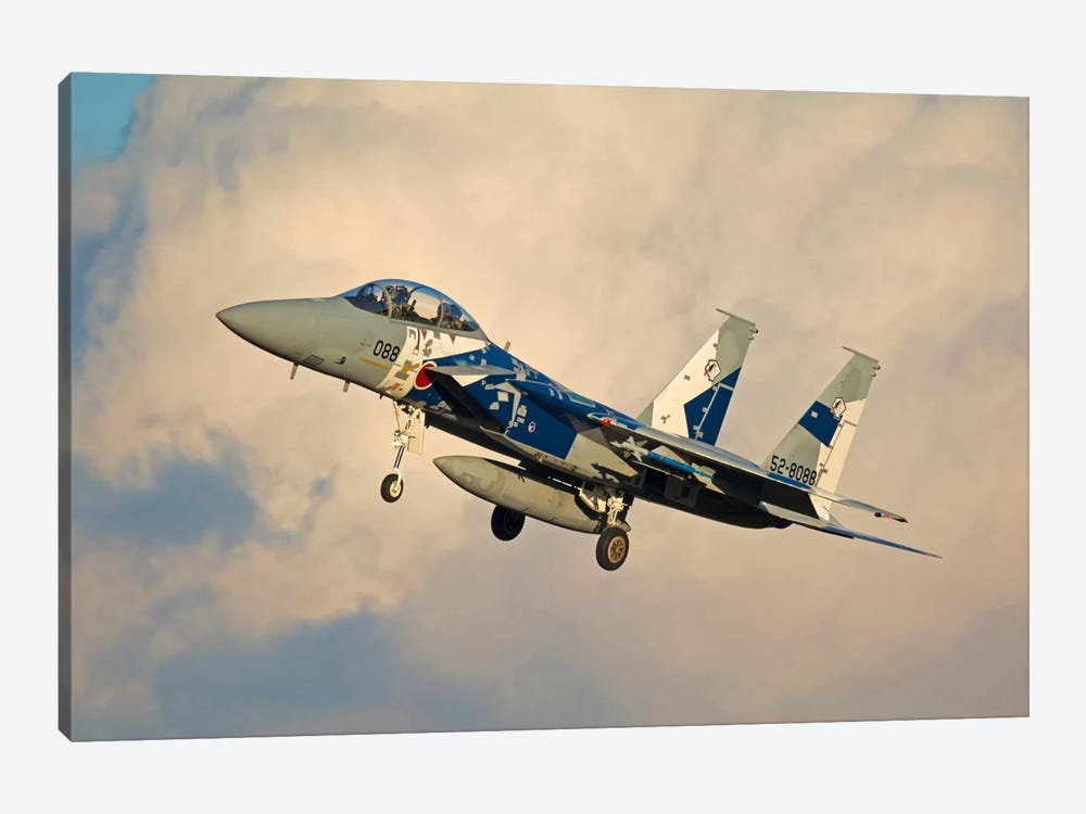 F-15DJ Eagle Of The Japan Air Self Defense Force's Hiko Kyodatai Aggressor Squadron II by Phil Wallick 1-piece Canvas Print
