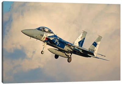 F-15DJ Eagle Of The Japan Air Self Defense Force's Hiko Kyodatai Aggressor Squadron II Canvas Art Print