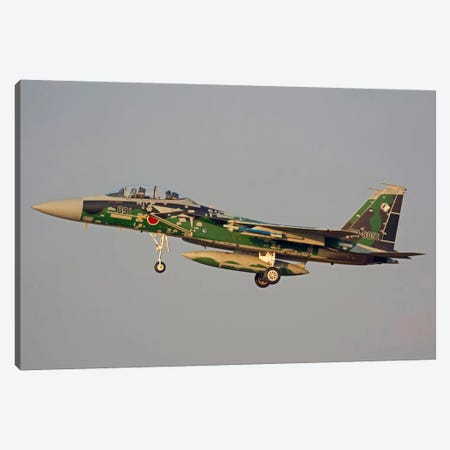 F-15DJ Eagle Of The Japan Air Self Defense Force's Hiko Kyodatai Aggressor Squadron III Canvas Print #TRK392} by Phil Wallick Canvas Art Print