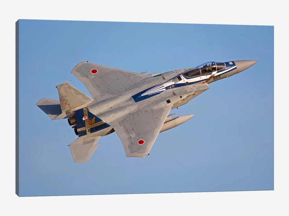 F-15J Eagle Of The Japan Air Self-Defense Force by Phil Wallick 1-piece Canvas Artwork