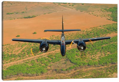 F7F Tigercat In Formation Flight Over San Antonio, Texas Canvas Art Print